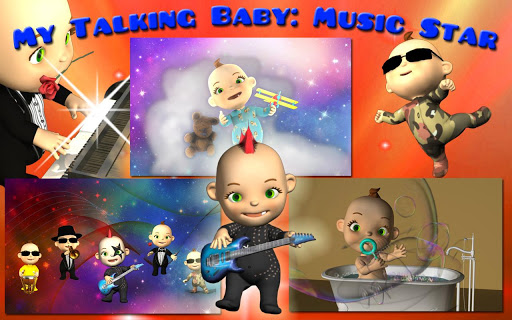 My Talking Baby Music Deluxe  screenshots 1