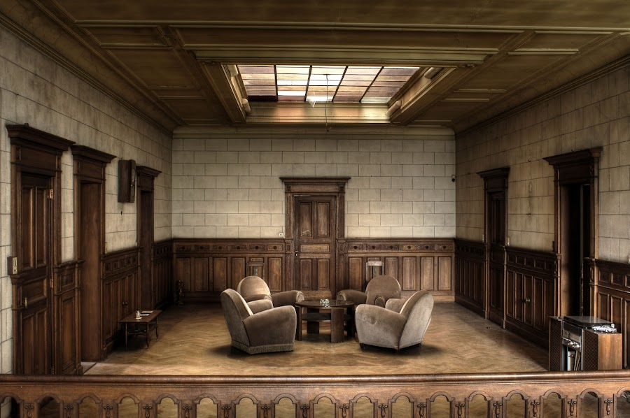 Room by Greg Warnitz  - Buildings & Architecture Architectural Detail ( urban, chairs, belgium, abandoned, room )