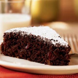 Chocolate-Walnut-Cranberry Cake.
