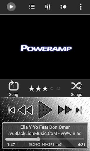 Poweramp Skin White Neon