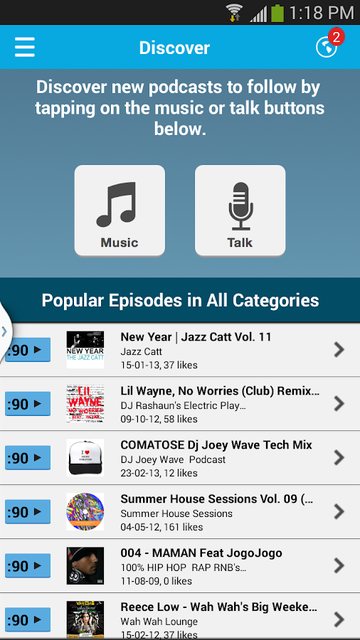PodOmatic Podcast Player - screenshot
