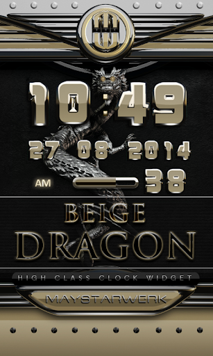 dragon digital clock beige