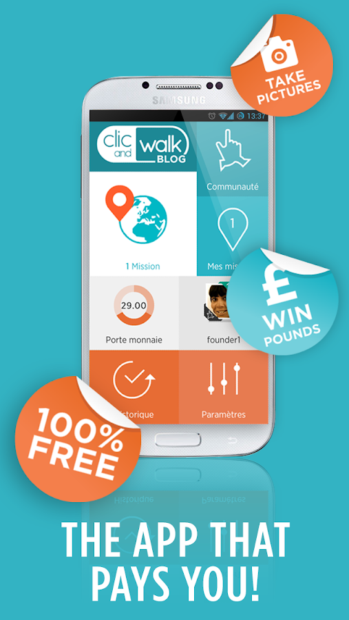 Clic and Walk - MAKE MONEY - screenshot