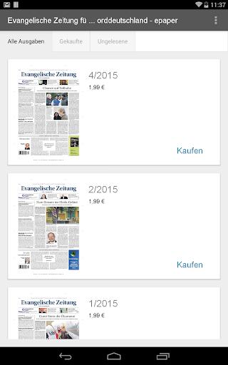 Ev. Zeitung Nord - epaper