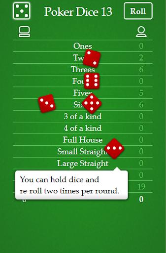Poker dice 13