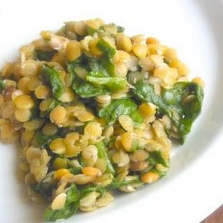 Red Lentils and Spinach.