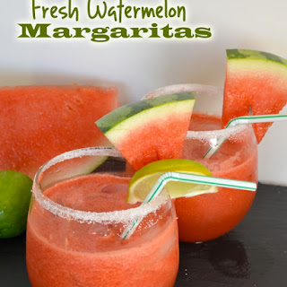 Fresh Watermelon Margaritas Recipe