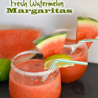 Fresh Watermelon Margaritas.