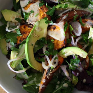 Avocado & Roasted Sweet Potato Salad..