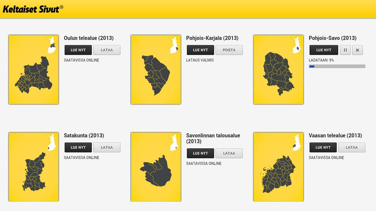 Keltaiset Sivut- screenshot