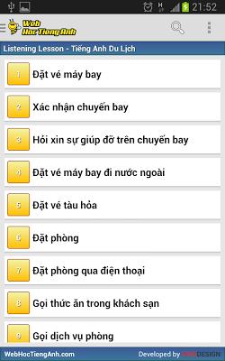 Tiếng Anh Du Lịch - screenshot