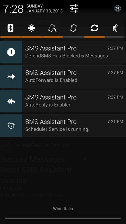 SMS Assistant Free - screenshot