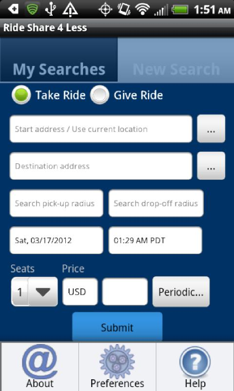Rideshare4Less - screenshot