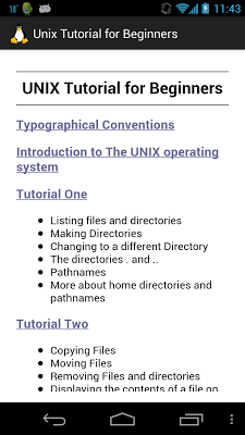 Unix Tutorial for Beginners - screenshot