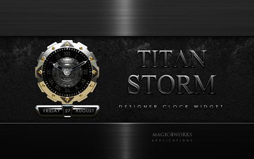 clock widget TITAN STORM