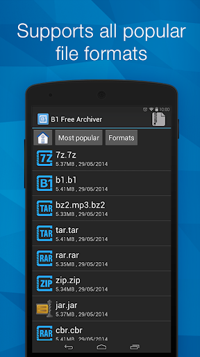 B1 Archiver zip rar unzip  screenshots 1