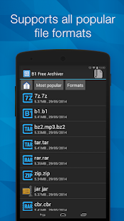 B1 Archiver zip rar unzip Screenshot
