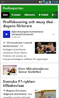 Screenshot of Sport/Radiosporten (bokmärke)