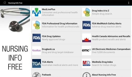 【免費醫療App】Nursing Info Free-APP點子