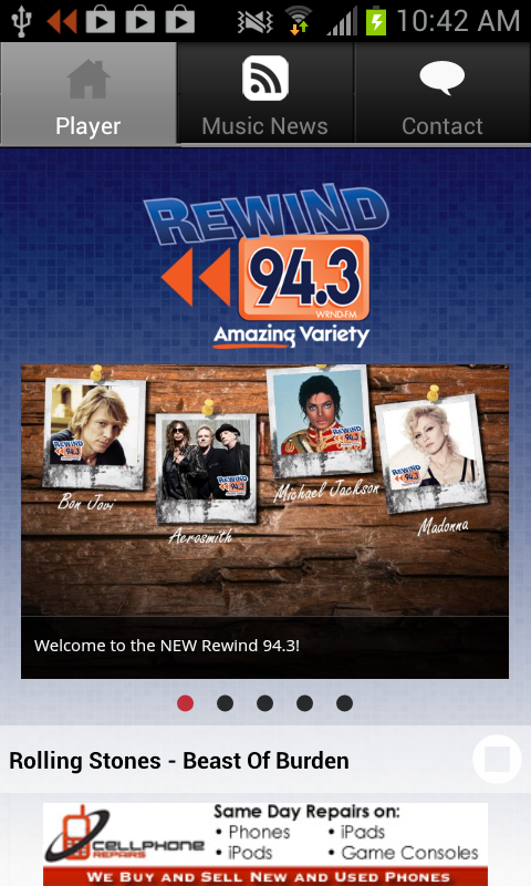 Rewind 94.3 - screenshot