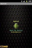 Screenshot of MyDroid - My Phone Information