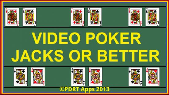 Play jacks or better poker free
