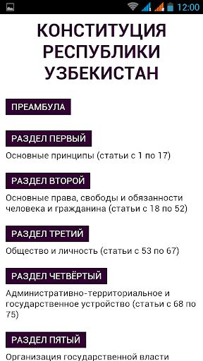 Конституция Узбекистана