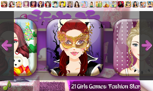 21 Girls Games - Fashion Star - screenshot thumbnail