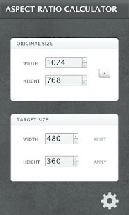 Aspect Ratio Calculator - screenshot thumbnail