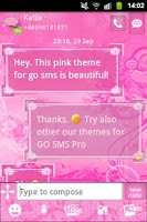 Screenshot of GO SMS Pro Theme Pink Flowers