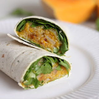 Caramelised Butternut Squash And Quinoa Burritos