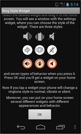 Change ringer mode widget
