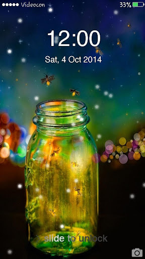 Fireflies Star Lockscreen