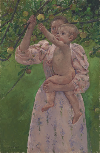 Child Picking a Fruit
