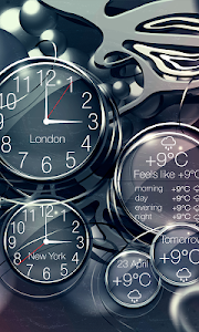 Black clock live wallpaper PRO v1.0.8