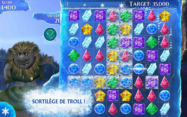android La Reine des Neiges Free Fall Screenshot 7
