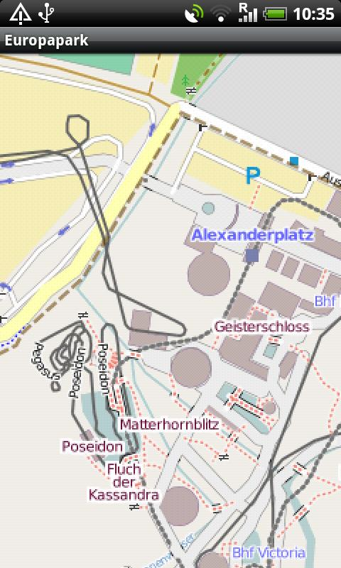 Europapark Street Map - screenshot