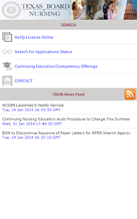 Texas Board of Nursing Mobile- screenshot thumbnail