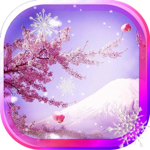Winter Sakura live wallpaper 個人化 App LOGO-APP試玩