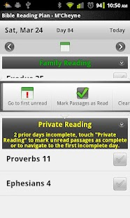 Bible Reading Plan - M'Cheyne - screenshot thumbnail