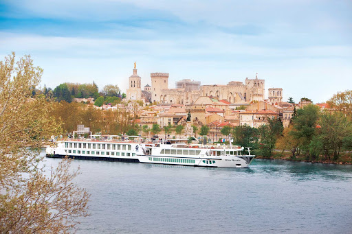 Uniworld-River-Royale-in-Avignon - Discover the classic French enclave of Avignon on a cruise along the Rhône River aboard Uniworld. This city in the South of France served as the seat of the papacy in the 1300s.