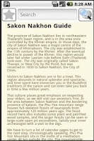 Screenshot of Sakon Nakhon Travel Guide