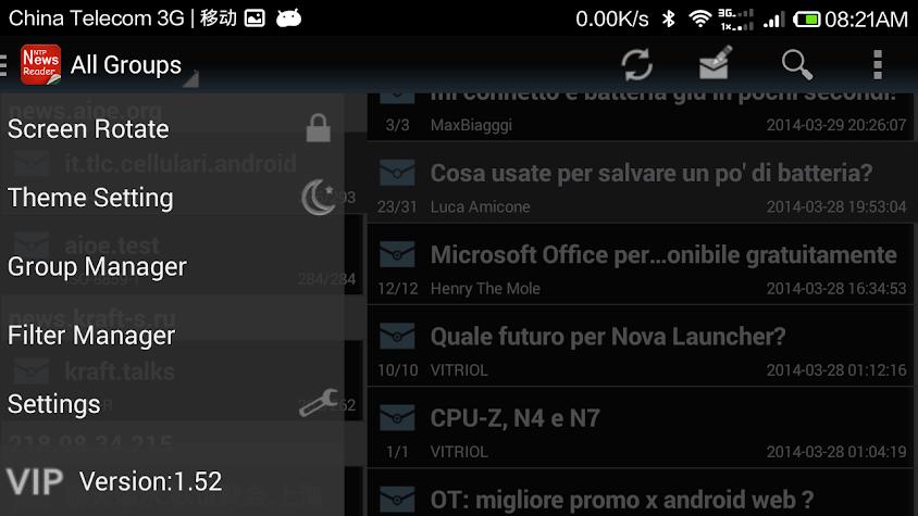 Usenet NewsReader Screenshot