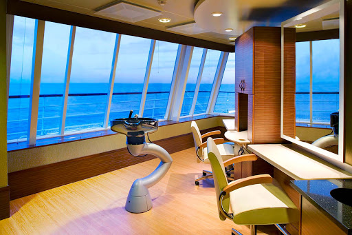 Spa-Fitness-Crystal-Spa-&-Salon-on-Crystal-Symphony - The Crystal Spa and Salon is the perfect place to be pampered aboard Crystal Symphony.