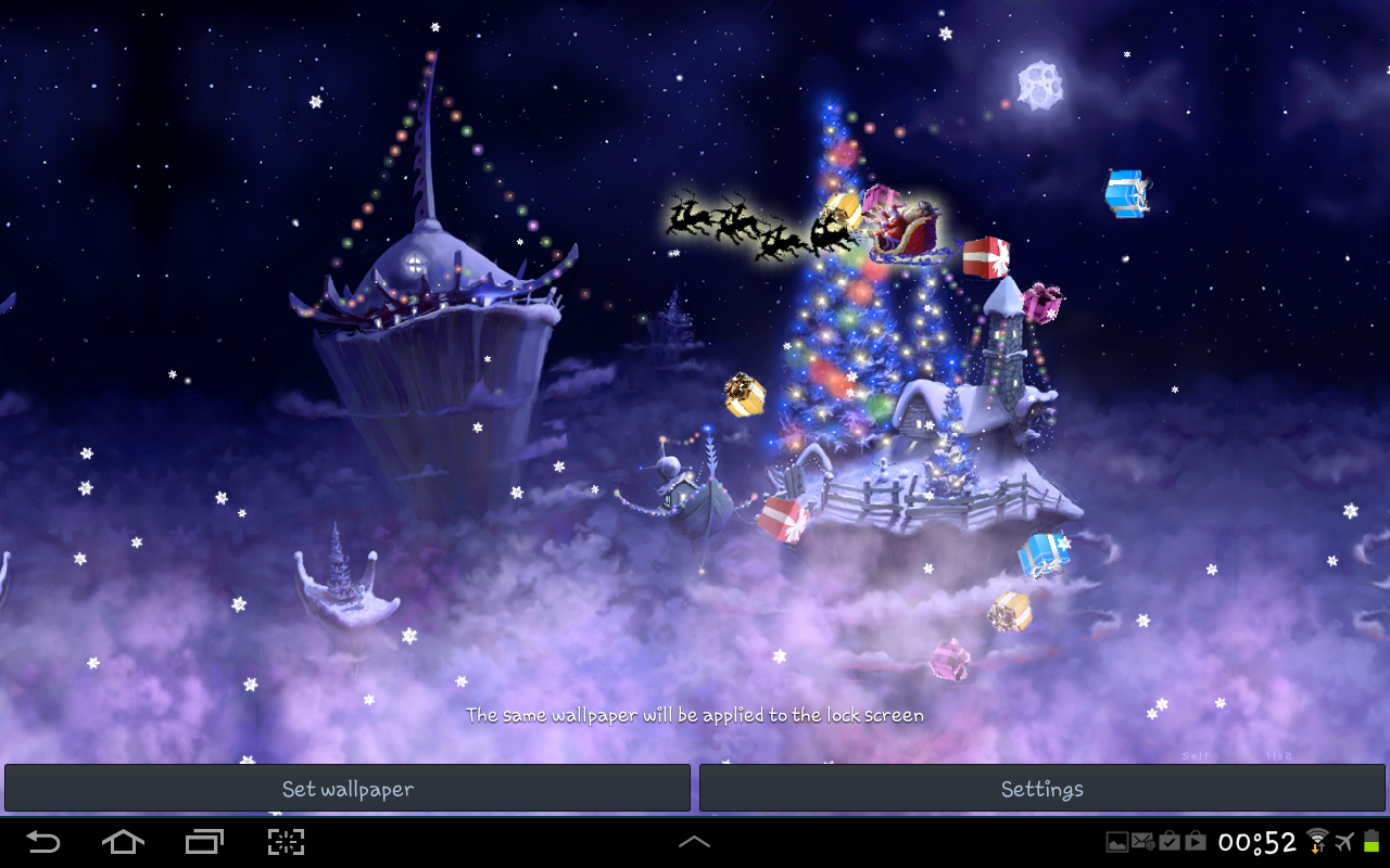 christmas snow fantasy live wallpaper android apps on