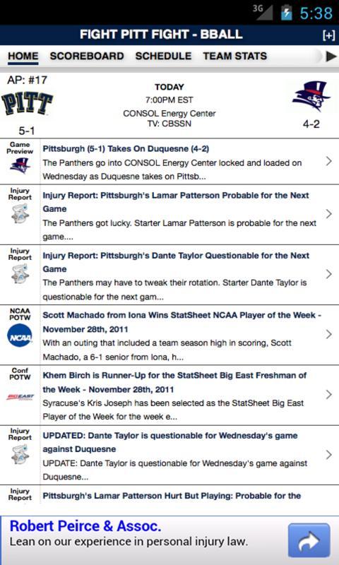 PITT Football & Basketball - screenshot