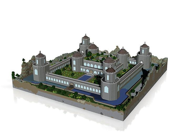 Minecraft Medieval Castle Blueprints Layer By Layer  Descargas