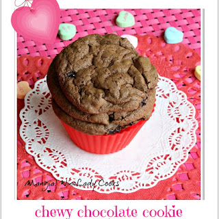 Chocolate Cookies With Cherries & Walnuts