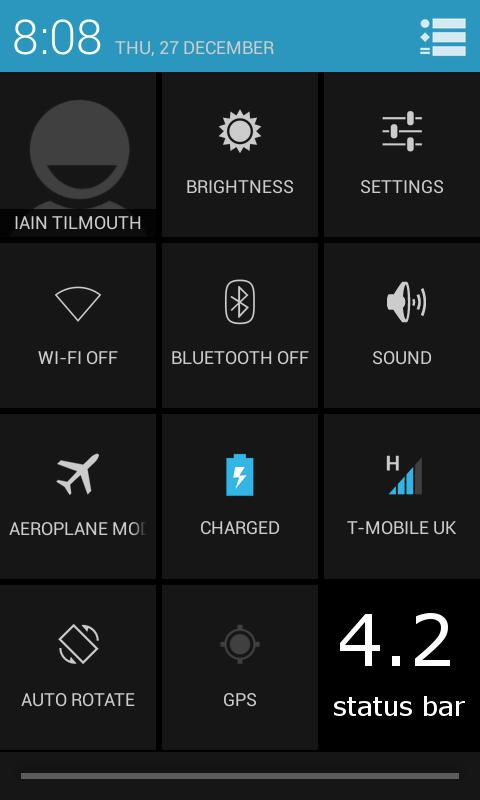TESLA BLUE CM \ AOKP THEME - screenshot