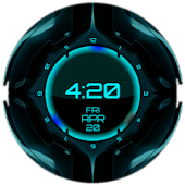 Tron Clock Live Wallpaper